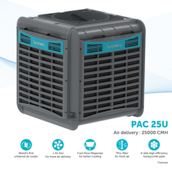 Duct Type Symphony Industrial Air Cooler, Material: Plastic