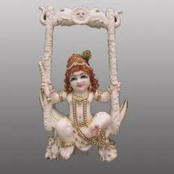 Lord Natkhat Bal Gopal Marble Statue