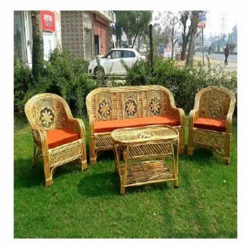 Antique Brown Bamboo Furniture Sofa Set, Bamboo Outdoor Furniture Set