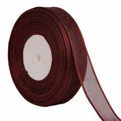 Organza Satin - Coffee Brown Ribbons25mm/1Inch 20mtr Length