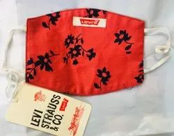 Reusable Floral Printed Cotton Face Mask, For Anti Pollution, Anti Bacterial, Packaging Type: Packet