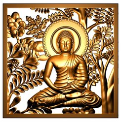 Buddha Mural Stone Dealer