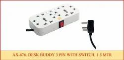 Desk Buddy 3 Pin With Switch  2 YRD