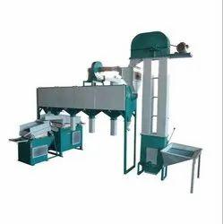 Semi Automatic Wheat Cleaning Machine Plant