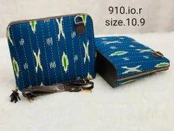 Multicolor Printed Ikkat Ladies Handbag