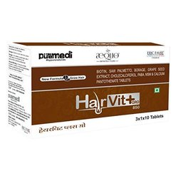byPureNaturals Hairvit Plus Gro Hair Vitamins IMP - 3x1x10 Strip