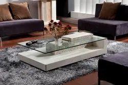 Rectangular Designer Wooden Glass Table