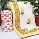 Jaipuri Hand Block Printed Cotton Quilt