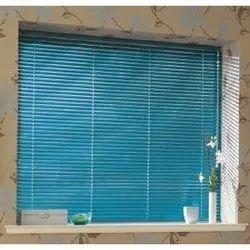 Horizontal Blue Aluminum Venetian Blinds