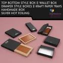 Handmade Rigid Wallet Boxes With Foiling
