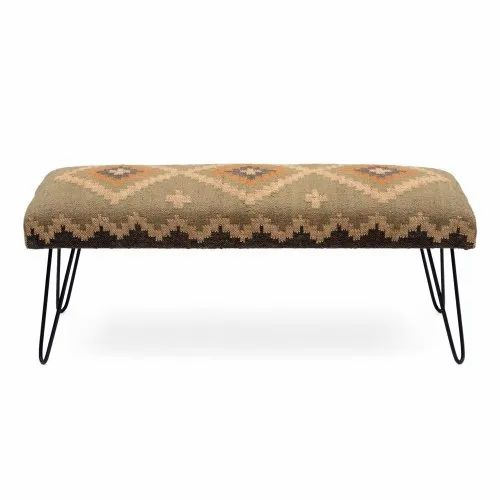 Fabric upholstered wooden bench for Lviing room furniture