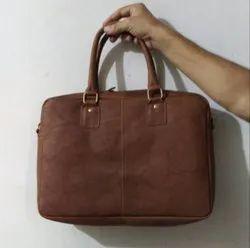 Fashionable Brown Ladies Leather Handbag, Size: Standard Size