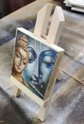 wooden canvas print with pine wood stand, For Interir Decoration, in Pan India