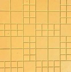 Yellow Checkmate Porcelain Floor Tiles, Thickness: 25 mm, Size: 1x1 Feet (L x W)