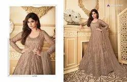 Aashirwad Georgette Printed Anarkali Salwar Suit, Machine Wash, Hand Wash