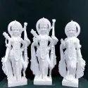 Lord Shri Ram Sita Laxman Jodi White Marble Statue