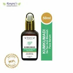 Rangrej''s Aromatherapy Kumkumadi De-Tan Anti Blemish Face Serum,Even Skin Tone 50ml