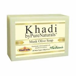 byPureNaturals Khadi  Musk Olive Soap- 125 Gm