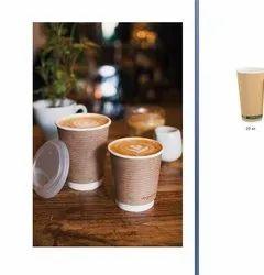 Printed Biodegradable Food Paper Cup, Capacity: 250 ML