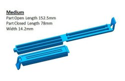 Blue Plastic Food Clip, Packaging Type: Packet