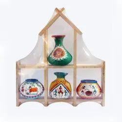 Multicolor Terracotta And Designer Pots, For Interior Decor, 10 X 11 Inch