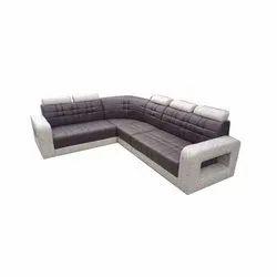 Wooden Modern Living Room Sofa Set, L Shape