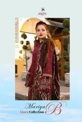 Deepsy Suits Maria B Linen Collection Jam Cotton With Embroidery Work Pakistani Suit Catalog