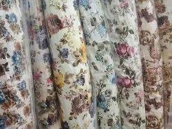 Printed Jute Digital Print Sofa Fabric