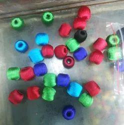 Round Silk Bead, Size: 12 Mm