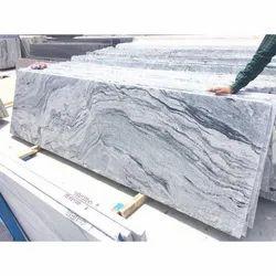 Polished Big Slab 30 mm Madanapalle Plain White Granite Slabs, For Flooring
