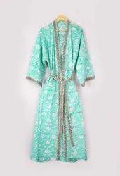 Designer Cotton Kimono Robe