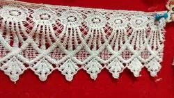 White POLISTER Dyeable Lace, For Decorative, Size: 2.50 Inch