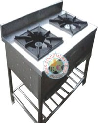 Silver 2 Burner Commercial Gas Stove