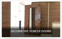 Brown Laminated Decorative Veneer Doors, Size/Dimension: 8*4 Feet