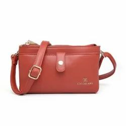 Party Plain Ladies Pu Leather Bag, Size: 8*5 Inches