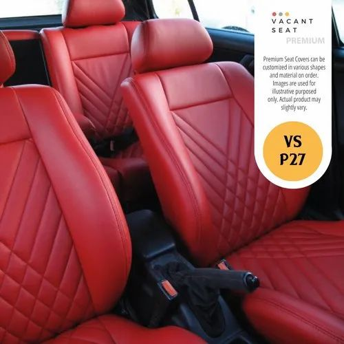 Red Front Back Custom Car Interior, Can You Make Your Own Car Seat Covers