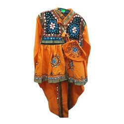 Embroidered Full Sleeves Traditional Dress For Kids