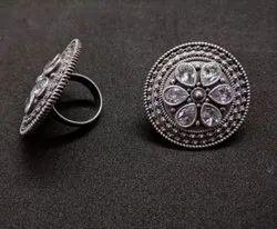 Polki Finger Ring