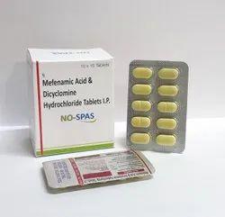Mefenamic Acid 250mg & Dicyclomine Hydrochloride 20mg Tablets