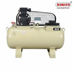 RMT-5C 1 HP 2 Piston Single Stage Air Compressor With 105 LTR Tank