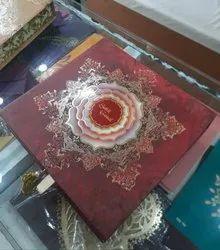 Multicolor Cardboard Designer Wedding Card Box, 2 Leaflet, Size/Dimension: 9X9