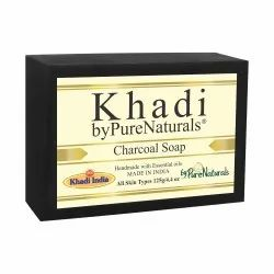 Bypurenaturals Khadi Charcoal Soap- 100gm