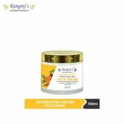 Rangrej's Aromatherapy Soundarya Ubtan Face Mask for Glowing & Brightening Skin 100ml