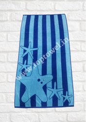 Cotton Velour Jacquard Beach Towels( Toptowel.In)