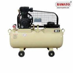 RMT-5S 1 HP 2 Piston Single Stage Air Compressor 36 LTR