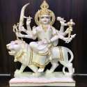 Goddes Durga Maa Light Paints Marble Statue