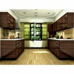 Parallel Wooden Modular Kitchen