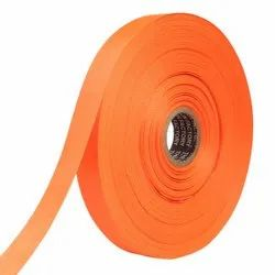 Double Satin NR - Tiger Orange Ribbons 25mm/1''Inch 20mtr Length