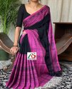 Anik Saree Party Wear Begumpuri Khadi, With Blouse, 6.3 M
