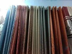 Cotton Mix Color Multicoloured Designer Curtains, For Window